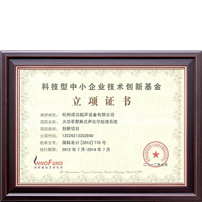 Innovation Fund Project Certificate